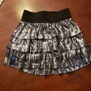 1989 Children's Place Silver Sequin Skirt sz 4